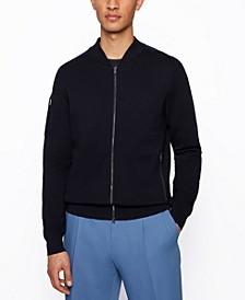 BOSS Men's Bomber-Jacket-Style Cardigan