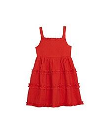 Little Girls Gauze Tiered Dress