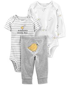 Baby 3-Pc. Bodysuits & Pants Set