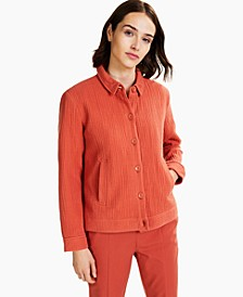 Textured Button-Front Jacket, Created for Macy's