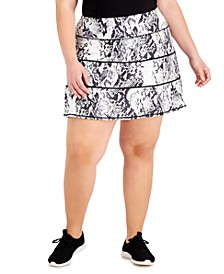 Snake-Print Tiered A-Line Skort, Created for Macy's