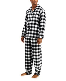 Matching Men's Buffalo Check Cotton Flannel Family Pajama Set, Created for Macy's