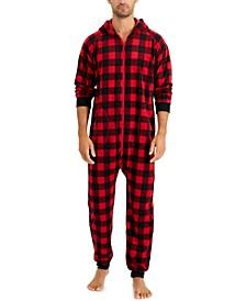 Matching Men's 1-Pc. Red Check Printed Family Pajamas