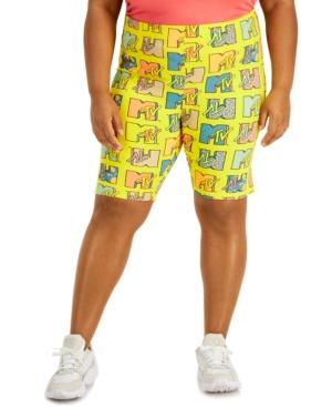 Trendy Plus Size Printed Bike Shorts