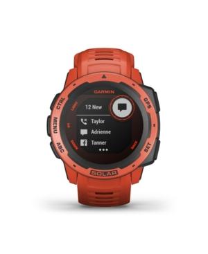 Unisex Instinct Solar Flame Red Silicone Strap Smart Watch 23mm