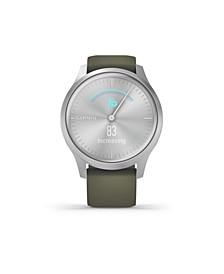 Unisex Vivomove 3 Style Blush Pink Nylon Strap Smart Watch 24.1mm