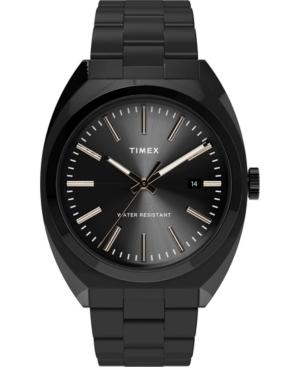 TIMEX MEN'S MILANO BLACK STAINLESS STEEL BRACELET WATCH 38MM