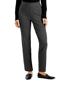 Petite Heathered Ponté-Knit Pants, Created for Macy's