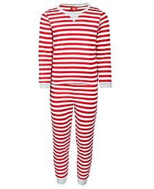 Matching Toddler, Little & Big Kids 2-Pc. Striped Family Pajama Set