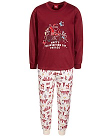 Matching Toddler, Little & Big Kids 2-Pc. Macy's Thanksgiving Day Parade Family Pajama Set, Created for Macy's
