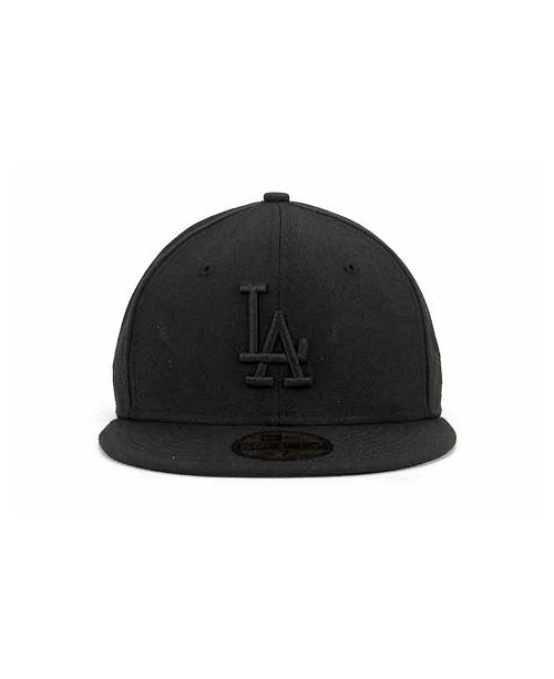 New Era Los Angeles Dodgers Black On Black Fashion 59FIFTY