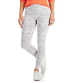 Petite Printed Pull-On Leggings, Created for Macy's