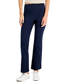 Petite Tummy-Control Bootcut Yoga Pants, Created for Macy's