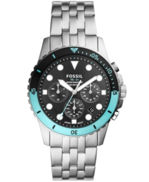 FOSSIL MEN'S FB-01 CHRONOGRAPH MOVEMENT, STAINLESS STEEL BRACELET WATCH 42MM