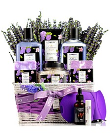 Lavender Lilac Bath Body Self Care Package Gift Basket, 12 Piece