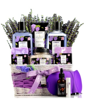 Lavender Lilac Bath Body Self Care Package Gift Basket