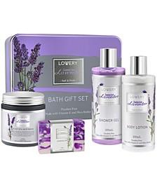 Jasmine Lavender Bath and Body Gift Set, 5 Piece