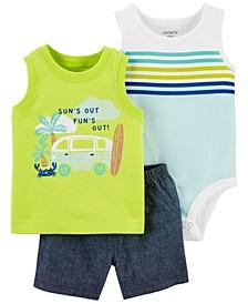 Baby Boys Vacation Little Short, 3 Piece Set