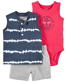 Baby Boys Tie-Dye Little Short, 3 Piece Set