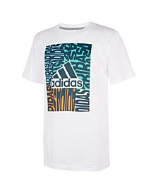 Big Boys Short Sleeve Color block Badge of Sport T-shirt