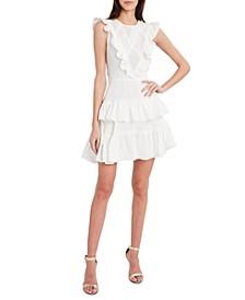 High-Neck Ruffled Dress