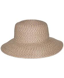 Braided Down-Brim Floppy Hat
