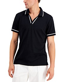 Men's Contrast Trim Polo Shirt, Created for Macy's