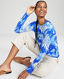 Cashmere Tie-Dyed Sweater, In Regular and Petites, Created for Macy's
