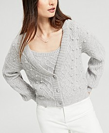 Cashmere Mixed-Stitch Cardigan, Created for Macy's