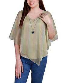 Petite Sheer Poncho with Matching Tank