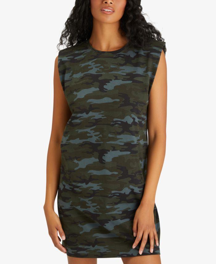 Sanctuary Printed Shoulder Pad Dress & Reviews - Dresses - Women - Macy's