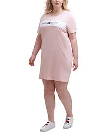 Plus Size Logo-Print T-Shirt Dress