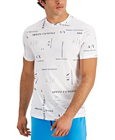 Men's Simply Blue Allover Logo T-Shirt, Created for Macy's