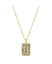 "Gold Flash-Plated Talisman Hamsa Pendant Necklace, 16+2"" Extender"