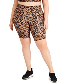 Plus Size Printed Bike Shorts, Created for Macy's