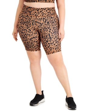 Plus Size Printed Bike Shorts