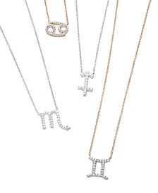 Diamond Zodiac Pendant Necklace Collection (1/10 ct. t.w.) in 14K Yellow Gold or 14K White Gold