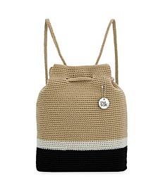 Women's Crochet Kali Drawstring Backpack