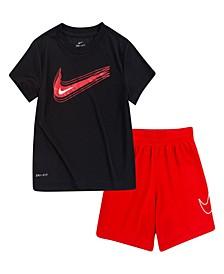Little Boys Value T-shirt and Shorts Set, 2 Piece