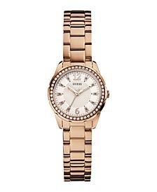 Women's Glitz Rose Gold-Tone Watch 30mm