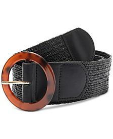 Stretch Straw Belt, Created for Macy's