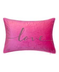 Celebrations Beaded Love Lumbar Decorative Pillow, 12x18
