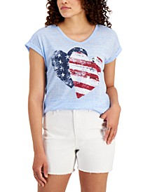 V-Neck Graphic Top, Created for Macy's