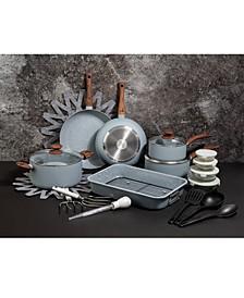 Pluto 28-Pc. Nonstick Aluminum Cookware Set