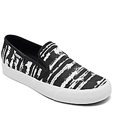 Women's Bari Cat Stripe Slip-On Casual Sneakers from Finish Line