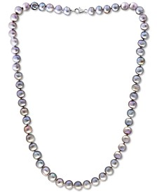 """EFFY® Gray Cultured Freshwater Pearl (7 mm) 18"""" Statement Necklace (Also in White, Pink, & Multicolor Cultured Freshwater Pearl)"""