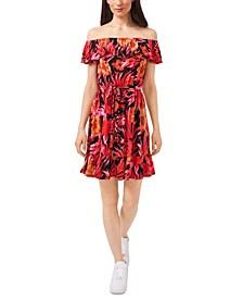 Amanda Tropical-Print Dress, Created for Macy's