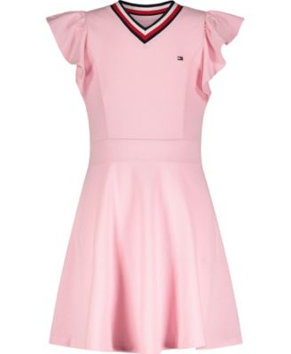 Big Girls Solid Ruffle Dress