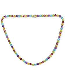 "Amethyst All-Around 17"" Collar Necklace (40 ct. t.w.) in Sterling Silver (Also in Swiss Blue Topaz, Citrine & Multi-Gemstone)"