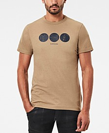 Men's Circle Object Back Graphic T-shirt